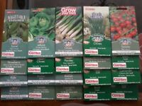 Vegetable / Herb Seeds 20+ Packets Long 'Sew By' Dates