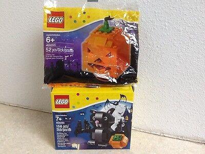 LEGO Seasonal Halloween Bat (40090) And Polybag Punpkin 40055](Halloween Punpkin)