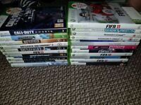 Xbox 360/ 2 Controllers and 18 games/ no delivery