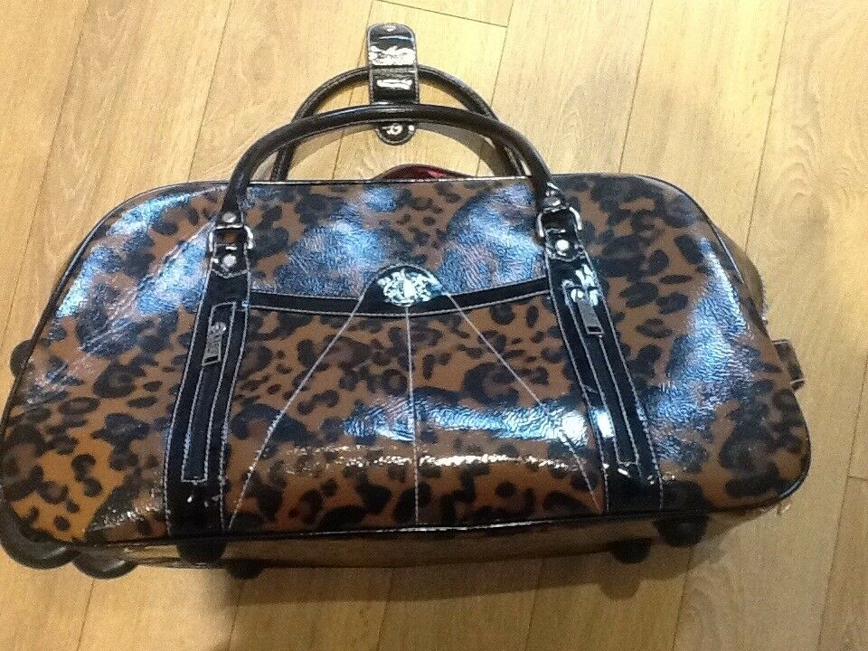 LONDON LYDC LEOPARD PRINT HOLDALL/LUGGAGE