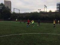 Casual 7/8-a-side football in Mile End every Monday. Looking for new players!