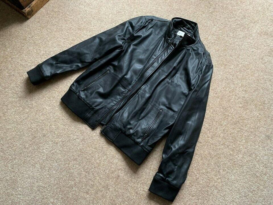 fb45219e1 Reiss - Men's Leather Biker Style Jacket - Black - Size XL | in Richmond,  London | Gumtree