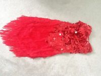 Red sequin Salsa dress