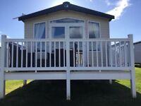 3 bedroom prestige static caravan on Berwick haven site , fantastic pitch includes 2018 site fees