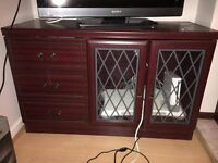 Wood and Glass TV Cabinet