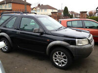 freelander 1800cc 3 door in black