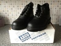 Safety Black steel toecap working boots