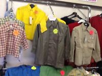 Selection of new boys shirts all ages