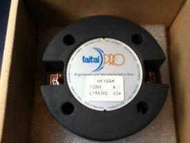 Pair (x2) Faital Pro HF10AK 1 inch compression drivers NEW