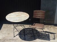 Hardwood Patio table and chaire