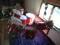10 piece Premier elite drumset