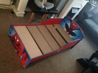Kids spider man bed in excellent condition very smart with clean mattress delivery is free
