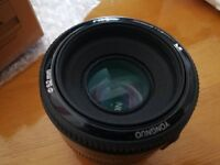 Yongnuo 50mm f1.8 Lens - Barely Used - Canon Mount