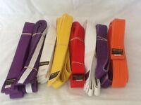 Selection of karate grading belts