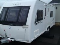 2013 luner lexon 640 twin axel 2 fixed single beds 4 berth end changing room