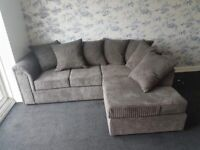 🌟 🌟ONE YEAR MANUFACTURE WARRANTY DYLAN JUMBO CORD CORNER SOFA OR 3+2 SEATER SOFA NOW