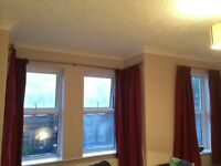 John Lewis Lined Deep Red Curtains