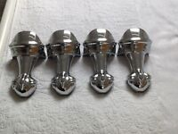 Set of four Ball and Claw, polished chrome free standing bath feet