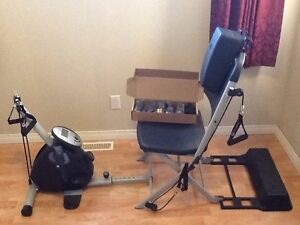 VQ Resistance chair, recumbent bike and cables - Neepawa