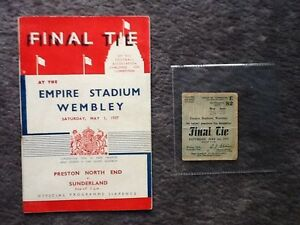 1937 FA Cup final programme and ticket