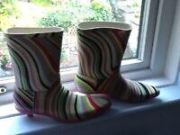 Paul Smith ankle wellington boots size 6