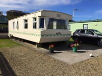 Static 6 berth Caravan for sale, fully equipped and site fees payed till 2019