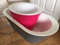 Baby tub bucket