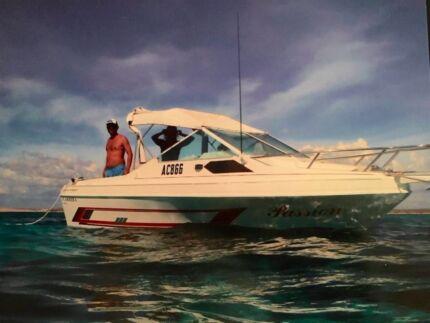 Carrera Sports Cruiser/Cabin Cruiser with 140hp Mercury outboard Singleton Rockingham Area Preview