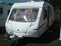 2005 abbey vogue GTS 415 fixed bed 4 berth with awning