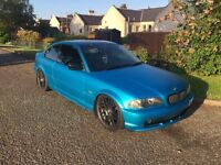 Modified bmw tinted windows 19 inch wheels with new tyres,lowered 3m wrap year mot great runner