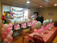 Balloons and Backdrop decorations