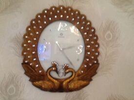 Clock with diamanté feauture