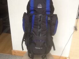 New/unused Eurohike Pathfinder 65(litre capacity)-top&bottom loading,pockets and pouches on sides
