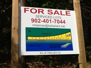 Serviced in Town Lahave River view  lots for sale