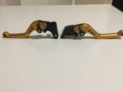 04-08 Yamaha r1 Pazzo levers (short) gold
