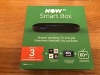 NOW TV SMART BOX BRAN NEW ONLY OPENED FOR THE CARDS