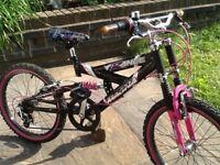 Magna trance dual suspension girls mountain bike