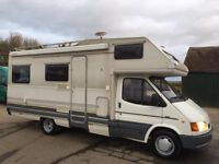 ford transit elnagh 6 berth motorhome,only 59k miles,lhd,aircon,mega bargain to clear!
