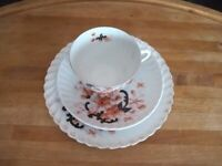 3 piece cup, saucer and cake plate