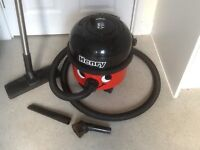 Henry vacuum cleaner, HVr-200. Low and high power level. Two attachments. Red.
