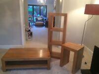 Solid wood furniture set (3pc)