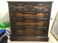 Oak chest of drawers - must go by evening of this Sunday 22nd April
