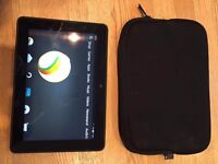 "Kindle Fire HDX 7"" tablet with case"