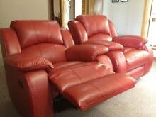 Red Bonded Leather Lounge Suite Mount Barker Mount Barker Area Preview