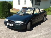 1995 Rover 216 Cabriolet, Honda engine in excellent order with full service history.