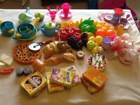 Toy food, kitchen and baby sets
