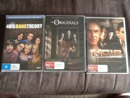 Big Bang theory S8, the originals S1, NCIS S1