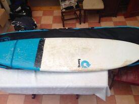 """Torq 6'10"""" fish tail surfboard"""