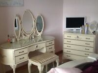 Regency style Bedroom Suite includes 2 Wardrobes, dressing table and chest of drawers
