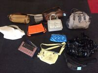 JOB LOT 12 HANDBAGS MAY BE SUITABLE FOR A TRADER